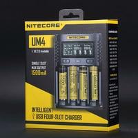 FREE SHIPPING NITECORE UM4 Intelligent USB LCD Battery Charger Li ion IMR LiFePO4 18650 14500 26650 Automatic Universal Chargers