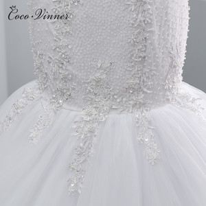 Image 5 - فستان زفاف بحورية البحر أبيض نقي مطرز بالخرز من الكريستال بتصميم أفريقي جديد بالإضافة إلى حجم فساتين زفاف WX0097