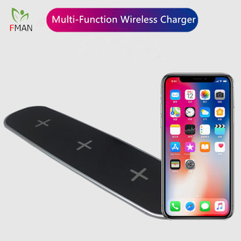Estación de carga FMAN 3 2 salidas USB inalámbricas para iPhone 5/6/7/8/X Plus Samsung Galaxy S6 S7 S8 Note 5/6/7/8 5W