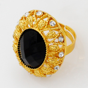 Image 5 - ดูไบเครื่องประดับชุดแฟชั่นผู้หญิง 24 GOLD ชุดเครื่องประดับคริสตัลสีดำสร้อยคอแหวนต่างหูแอฟริกันเจ้าสาวงานแต่งงานเครื่องประดับ