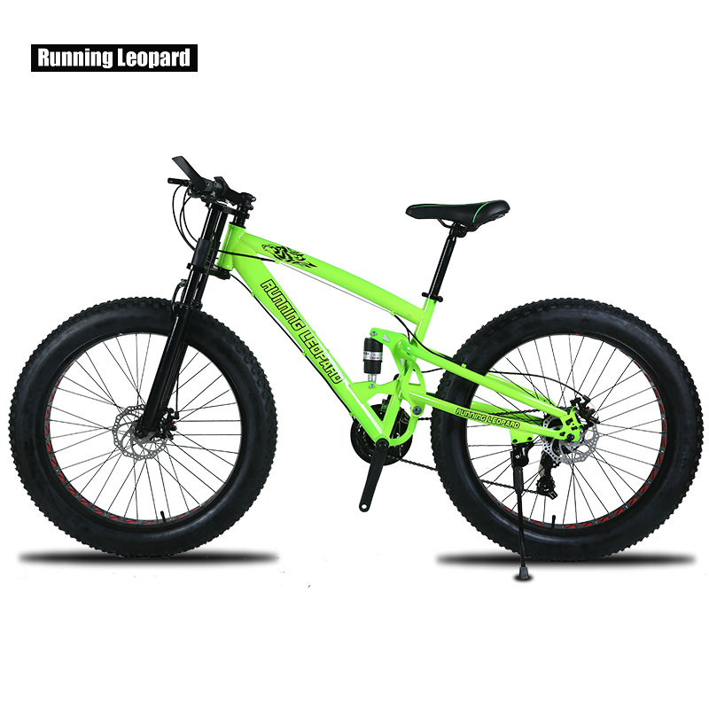 Running Leopard 7 21 24 Speed 26x4 0 Fat bike Mountain Bike Snow Bicycle Shock Suspension Running Leopard 7/21/24 Speed 26x4.0 Fat bike Mountain Bike Snow Bicycle Shock Suspension Fork Free delivery Russia bicycle