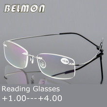 Óculos de leitura Das Mulheres Dos Homens Sem Aro Ultra-Leve Óculos Para  Presbiopia Magnético ac91b201aa