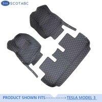 Scotabc 3 Dtype автомобильные коврики подходят для 2017 2019Tesla модель 3 любых погодных Водонепроницаемый ковер автомобиля коврик Model3 Alfombrilla авто