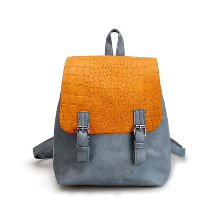 Female package 2017 new backpack Fashion soft leather travel bag College wind bag leisure fashion female students