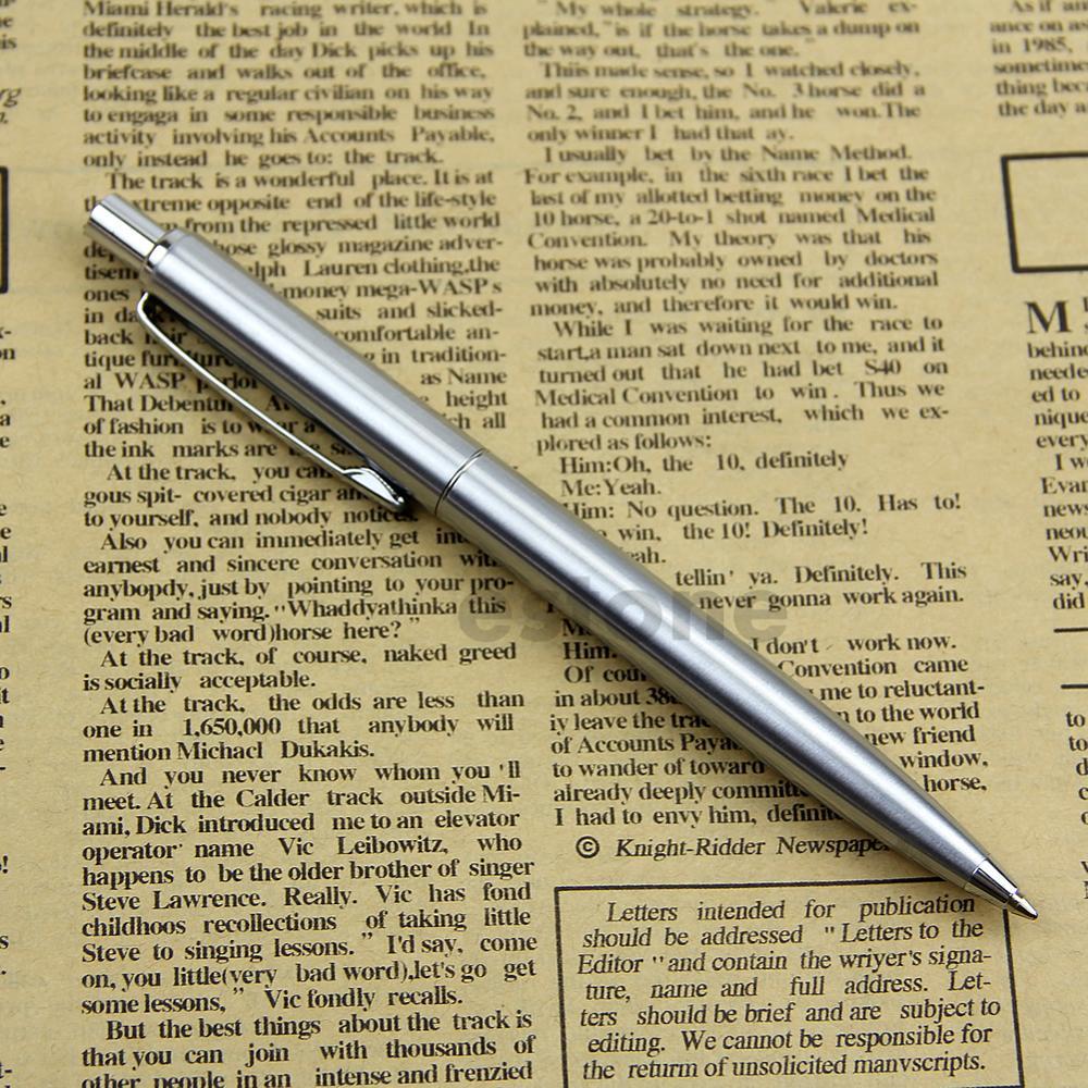 Stainless Steel Metal Push Ballpoint Pen Baoer 37 Ball Point Pen Gift Stationary