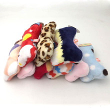 Bone-Shape Plush Dog Toy with Sound