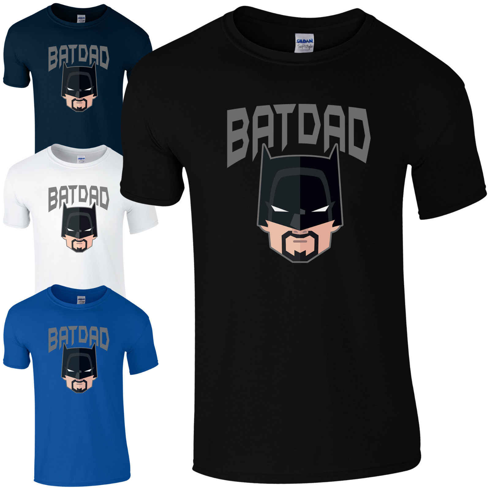 Batdad T-Shirt - Funny Batman Bat Dad Fathers Day Gift Birthday Present Mens Top