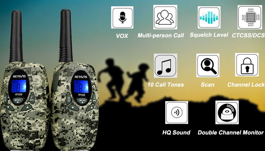 2pcs RETEVIS RT628 Mini Walkie Talkie Kids Radio 0 5W UHF Frequency  Portable Ham Radio Hf Transceiver Gift A1026B