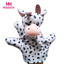 Cute Mouse Elephant Dog cow Duck Frog Panda Children Animal Hand Puppet Toys Kawaii Hand Puppets Toys for children(China)