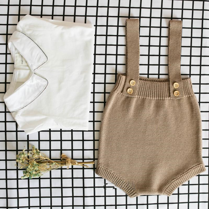 New 2019 Baby Knitting   Rompers   Cute Overalls Newborn Baby Boys Clothes Infantil Baby Girl Boy Sleeveless   Romper   Jumpsuit 0-24M