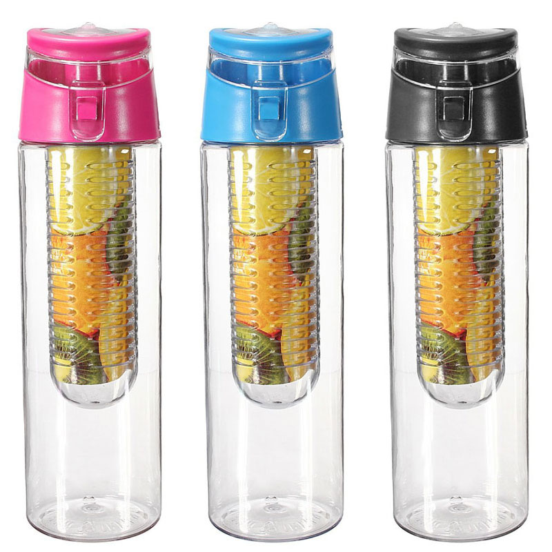 700ml Fruit Juice Infuser My Sport Drinking Detox Water Bottles Flip Lid BPA Free Health Lemon