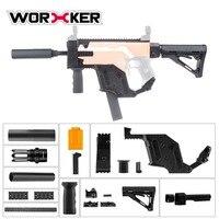 Рабочий DIY строительные блоки игрушечный пистолет модифицированный комплект Kriss вектор имитация комплект сборка игрушка головоломка мозг
