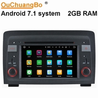 Ouchuangbo android 7.1 2GB RAM car audio gps for Fiat idea Lancia Musa with dual zone Bluetooth navigation 3G wifi