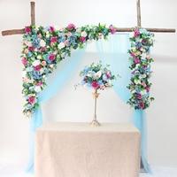 Wedding Flower Wall Artifical Silk Flower Backdrop Wedding Decoration