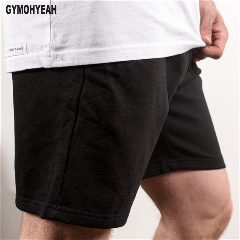 Mens shorts cotton printing gyms Casual Joggers Sweatpants workout Fitness Bodybuilding Calf-Length Short pants men Sportswear ...