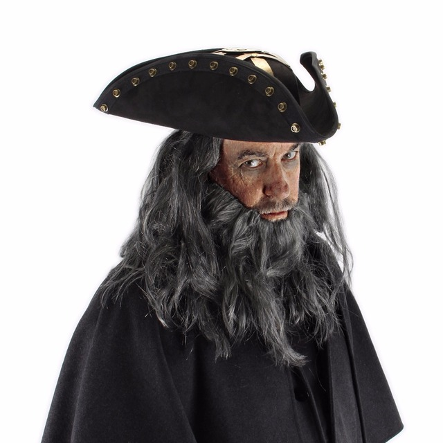 d4a044971bc3f Pirates of the Caribbean Captain Hector Barbossa Costume Hat cosplay Props  Halloween party free shipping