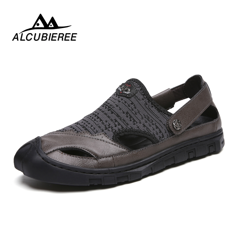 Shoes Men Sandals Genuine Leather Cowhide Men Sandals Summer Quality Beach Slippers Casual Sneakers Outdoor Beach Shoes
