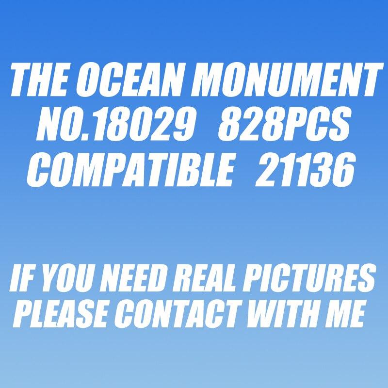 10734 1134pcs my worlds ocean monument underwater temple bela building block 21136 Toy