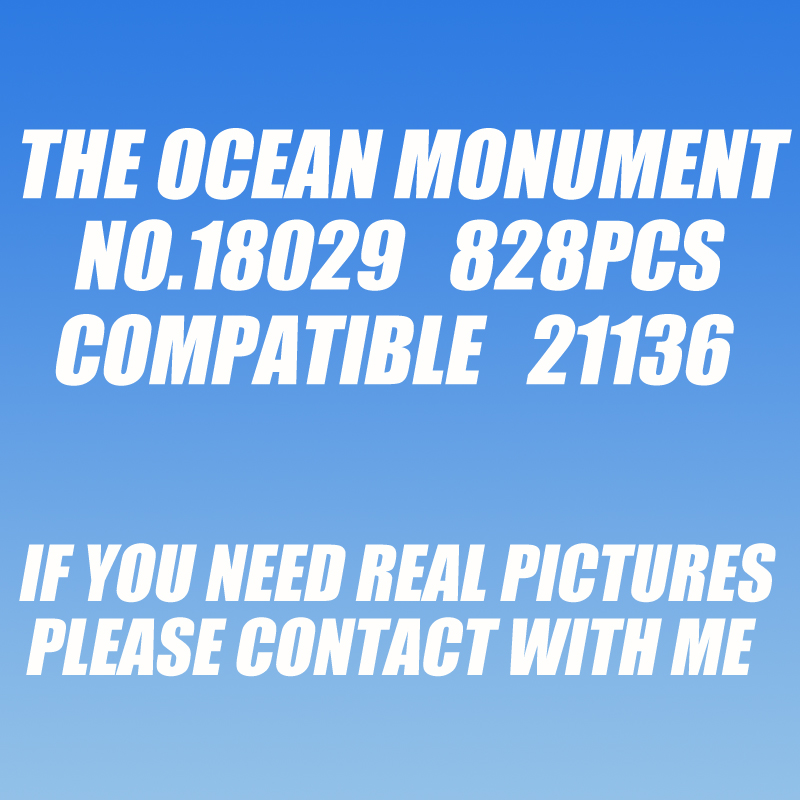 Oyuncaklar ve Hobi Ürünleri'ten Bloklar'de 10734 1134 adet benim dünya okyanus anıtı sualtı tapınak bela yapı taşı 21136 Oyuncak'da  Grup 1