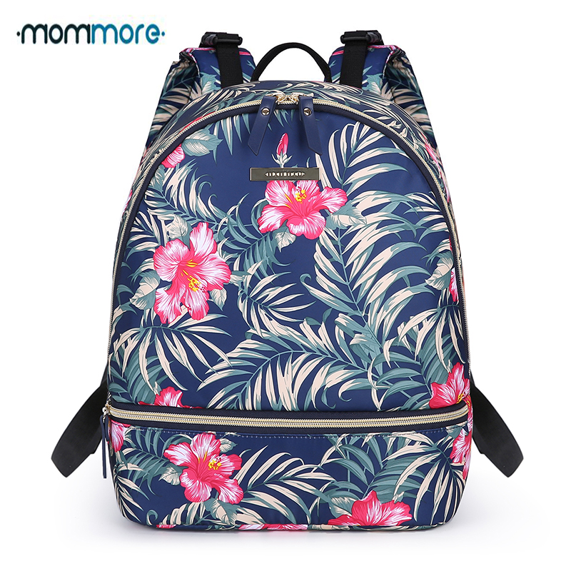 mommore Compact Baby Bag Diaper Backpack Waterproof Nappy Bag with Changing Pad Insulated Pockets for Baby
