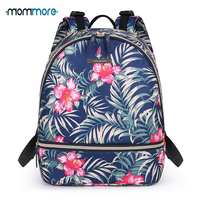 mommore Compact Baby Bag Diaper Backpack Waterproof Nappy Bag with Changing Pad, Insulated Pockets for Baby Care