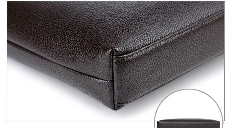 YUESKANGAROO Men Leather Briefcase Bags Business Laptop Tote Bag Men's Crossbody Shoulder Bag Men's Messenger Travel Bags