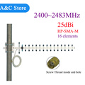 2.4GHz 25 dBi 16 elements Yagi Wireless WLAN WiFi Antenna  RP-SMA-M connector For Modem PCI Card Router Factory outlet