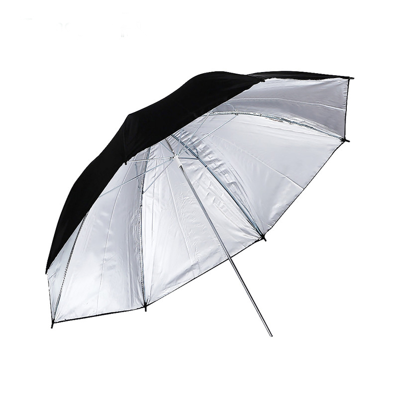 Konseen 1PC 83CM Durable Camera Photo Studio Flash Soft Umbrella Photography Lighting Accessories Black Silver Color