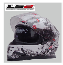 Free shipping new LS2 helmet full helmet-fog double lens motorcycle full racing helmet FF302 motorcycle helmet