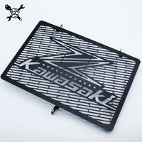 Free Shipping Stainless Steel Motorcycle Matte Black Radiator Guard Radiator Grille Cover Fits For KAWASAKI Z900