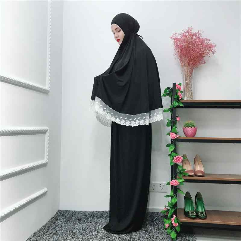 2 шт. abaya Robe Femme Рамадан мусульманское платье хиджаб Турция Кафтан Дубай женщины кафтан молитва Исламская одежда Ближний Восток Рамадан