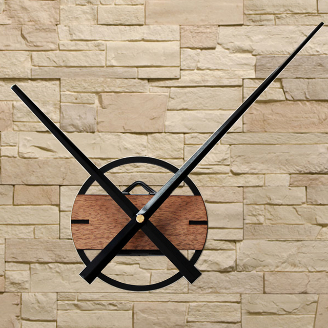 Large Wall Clock Modern Design Big Pointer Classic DIY Clocks Wood Wall Watch Home Decor For Bedroom 3D Stickers Silent 12cm
