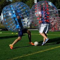 0.8mm 100%TPU 1.5m For Adults Inflatable Bubble Soccer Ball Bumper Bubble Ball Inflatable Zorb Ball Air Ball Bubble Football