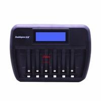 Doublepow 多機能ユニバーサル 6 スロット LCD AA AAA Rechargebale バッテリー充電器自動インテリジェント急速充電器 -
