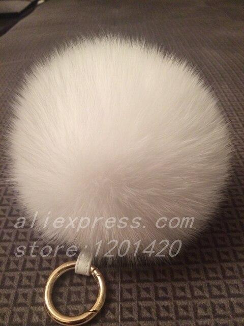 handmade Real fur Pompom furry Bag Charm fluffy Bag Bug white furry  Key chain keyring Handbag Charm Tote Wallet Charm Cute Gift