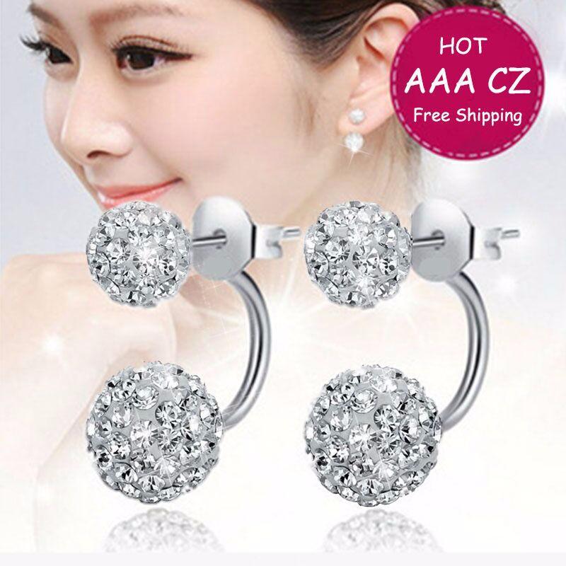 2016-New-Double-Side-Earrings-Fashion-Crystal-Disco-Ball-Shamballa-Stud-Earrings-For-Women-Bottom-Is (2)