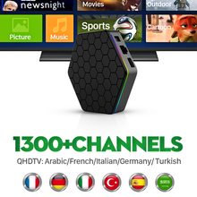 Europe Arabic French IPTV Channels T95ZPLUS Android 6.0 Smart TV Box Amlogic S912 Canal Plus French Italy UK Iptv Set Top Box