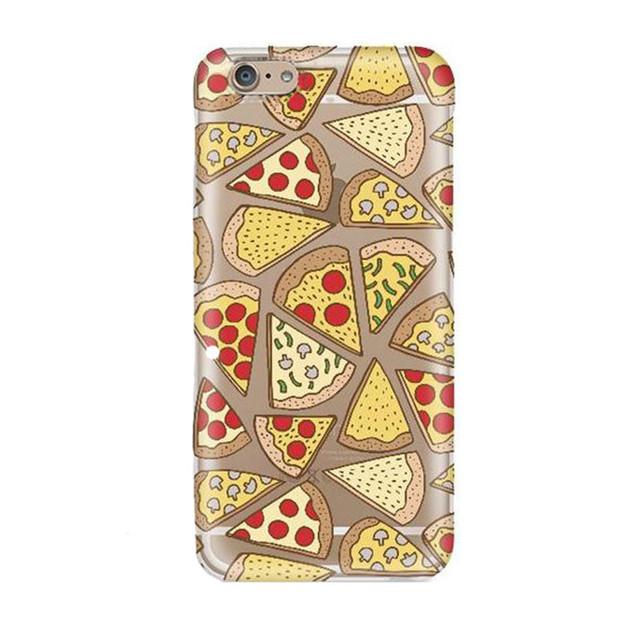 Hot Ultrathin Soft TPU Case for iPhone 6 6s Cute Cartoon Ice-Cream Pizza Donuts Fruit Tower Beach Pattern Phone Case EC808/EC766
