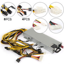 Mining Power Supply 1200W Bitcoin Ether for Computer Video Card Motherboard BTC Miner Machine Graphics Card Mining Machine Power
