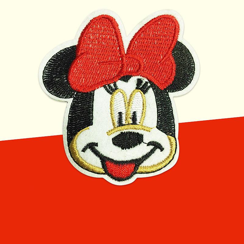 New Cartoon Cloth Embroidery LOGO Standard Clothing Decoration Accessories Embroidery To Custom Cloth Embroidery