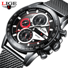 reloj hombre 2020 LIGE Official Store Top Brand Fashion New Mens Watches Waterpr