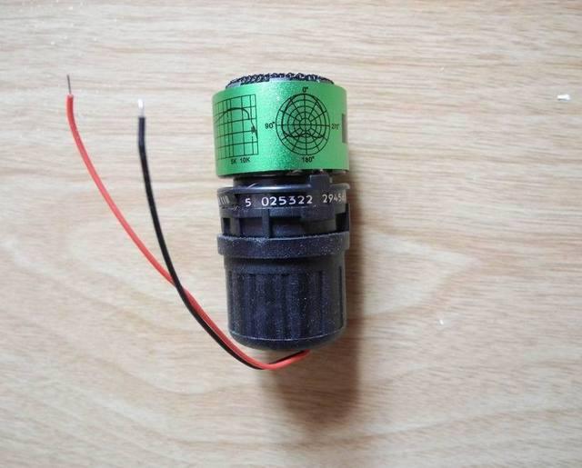 """Cartucho de micrófono de repuesto para cápsula de micrófono """"dinámico"""" para sistema de micrófono con cable inalámbrico"""