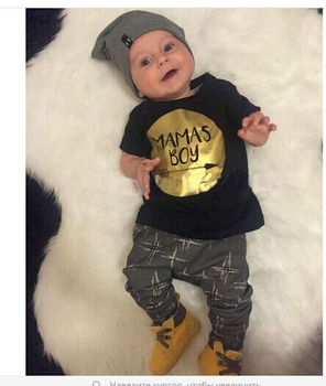 Baby boy Girls Clothes Newborn Toddler Infant fashion short T-shirt Tops Pants Baby Boys Clothing sets  Goldden Mamas Boy Arrow мобили на кроватку подвесные игрушки mamas