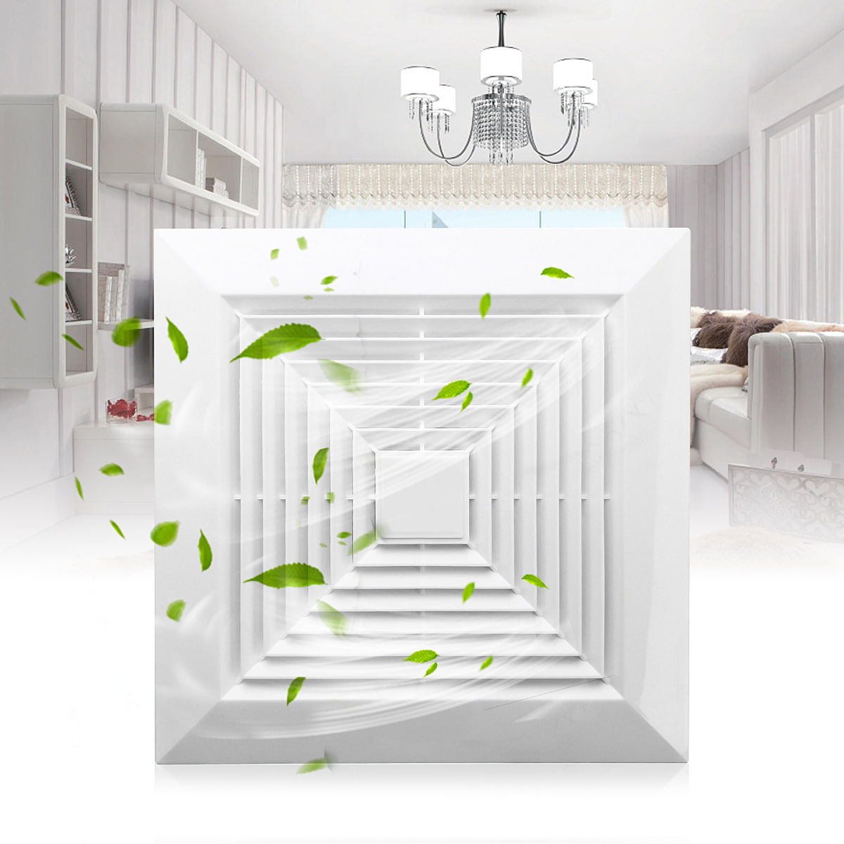 31w 6 inch 220v low noise window ceiling wall mount - Wall mounted exhaust fan for bathroom ...