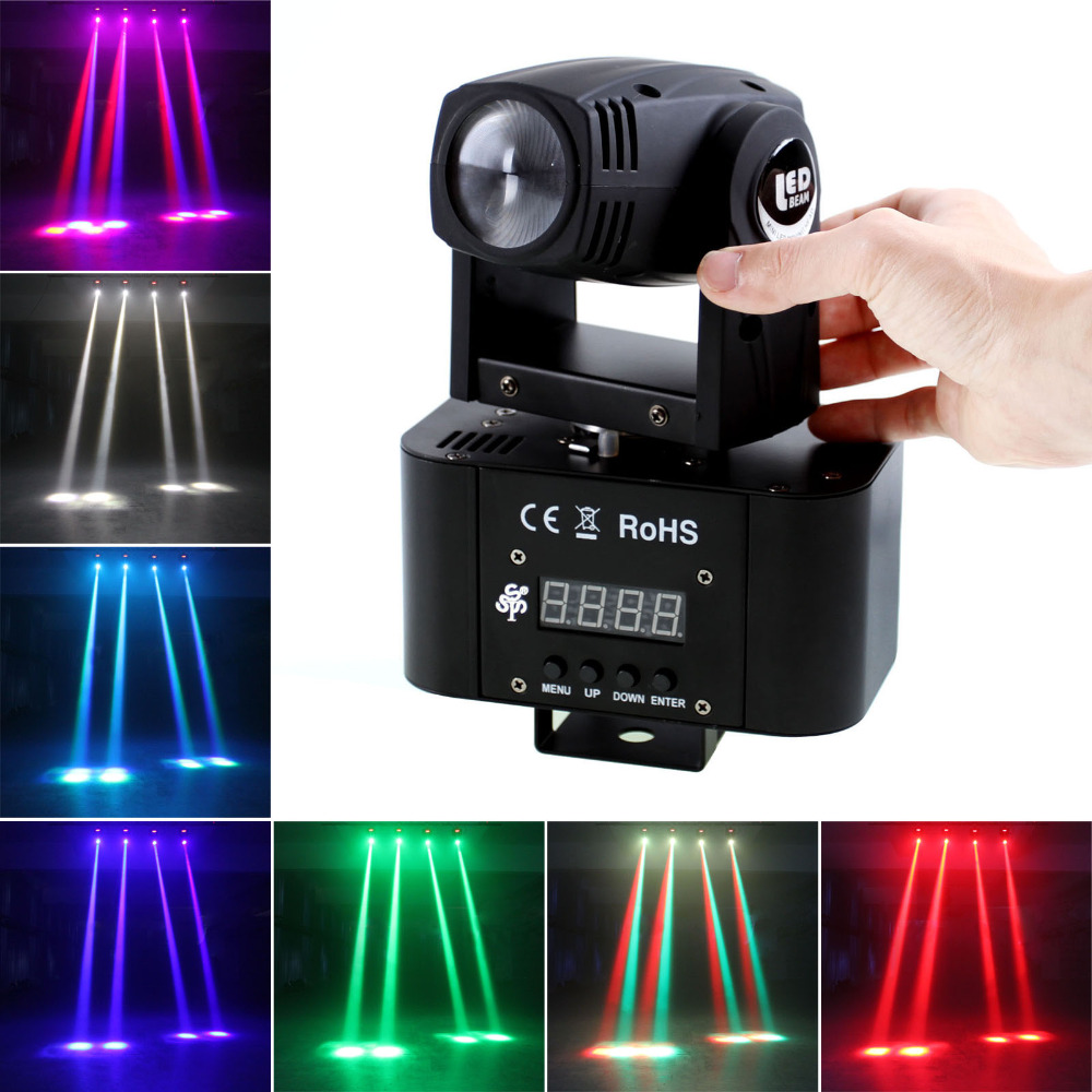 купить  LED Moving Head Light DMX RGBW 4-in-1 Stage Lighting DJ Club Party Wedding Show Effect Lighting  онлайн