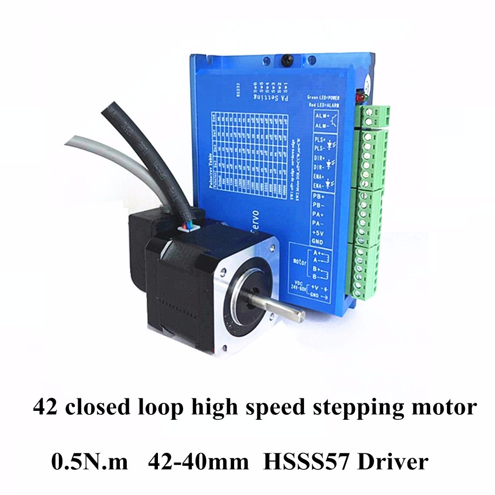 High Quality 42 Closed-loop High-Speed Stepper Motor 42BH250-40 +HSSS57 Driver 2 Phase 0.5 N.m Hybrid 40mm Motor Encoder Sets цены онлайн