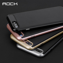 For Apple iPhone 7 Plus Cover ROCK Vision Luxury TPU+PC Hybrid Case Capa For iPhone 7 / 7 Plus Phone Protector Coque Housing чехол rock tpu pc guard series для iphone 7 plus 5 5