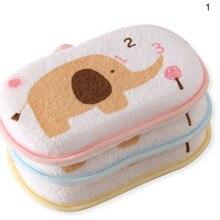 Милые для новорожденных губка для ванной руб младенческой Дети Ясельного возраста для ванной расчёски волос Хлопок потертости средства ухода за кожей