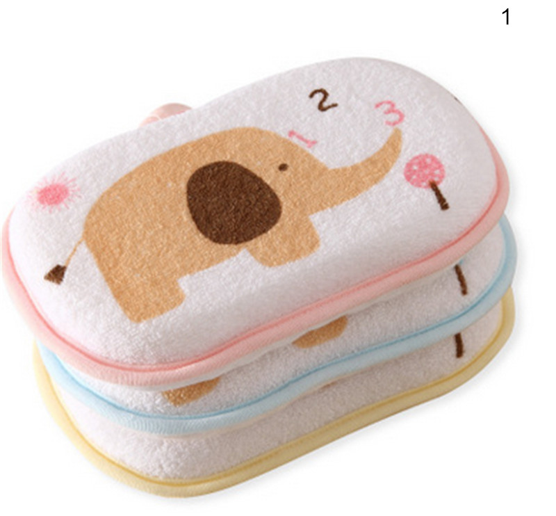 Cute Newborn Baby Shower Bath Sponge Rub Infant Toddle Kids Bath Brushes Cotton Rubbing Body Wash Towel Accessories