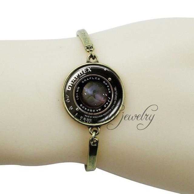 Handmade Camera Bangle Vintage Image Lens Charm Bracelet Photography Jewelry Gl Cabochon Dome Bracelets Bangles